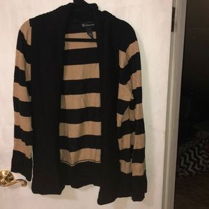 Brown and black striped cardigan